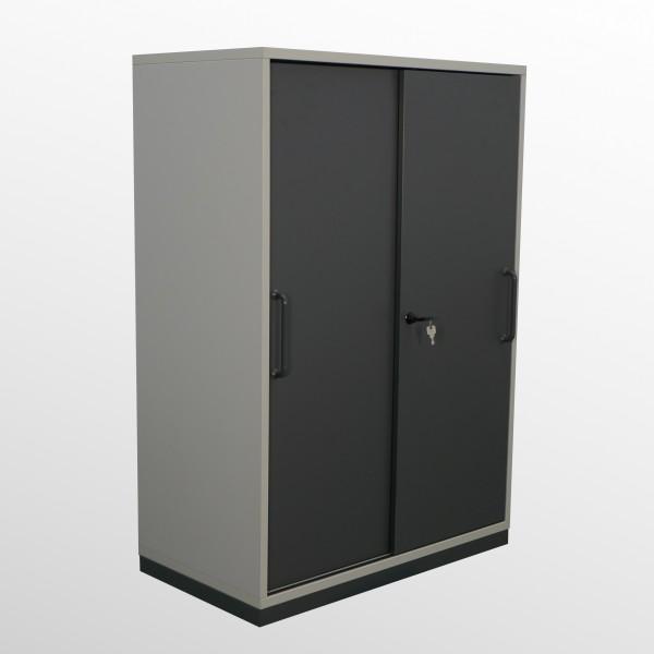 Gebrauchter Steelcase Schiebetürenschrank - Aktenschrank - B 800 mm - 3 Ordnerhöhen