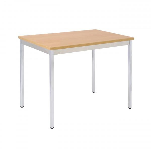 Bisley Mehrzwecktisch, rechteckig, Gestell verchromt, Tischplatte 25 mm, buche; 1200x600