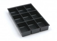 Bisley MultiDrawer™ Schubladeneinsatz A4 9 Fächer für A4 Schubladen H 102, 87, 51 mm