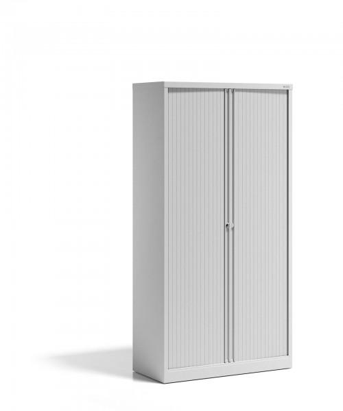 Bisley Rollladenschrank - Stahlschrank - Essentials, mit 4 Fachböden für 5 Ordnerhöhen