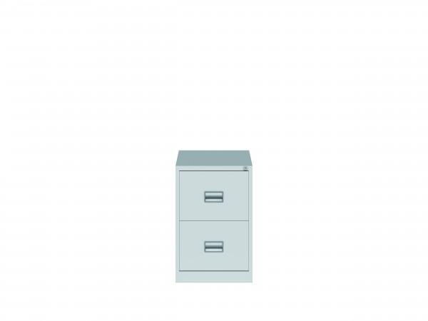 Bisley Hängeregistraturschrank ECO, einbahnig, DIN A4, 2 HR-Schubladen, Farbe lichtgrau