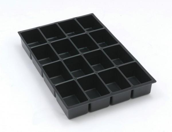 Bisley MultiDrawer™ Schubladeneinsatz A4 16 Fächer für A4 Schubladen H 102, 87, 51 mm