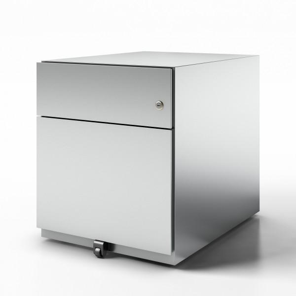 Bisley Rollcontainer Note™ mit Griffleiste, 1x Schublade, 1x HR-Schublade; T 565 mm