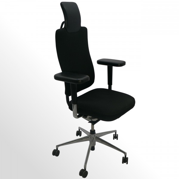 Gebrauchter Vitra HeadLine Premium-Bürodrehstuhl - Stoff schwarz