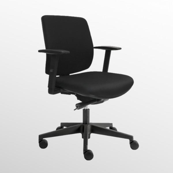 Günstiger Bürodrehstuhl mit Komfort-Sitzpolster und -Rückenlehne - Homeoffice-Drehstuhl
