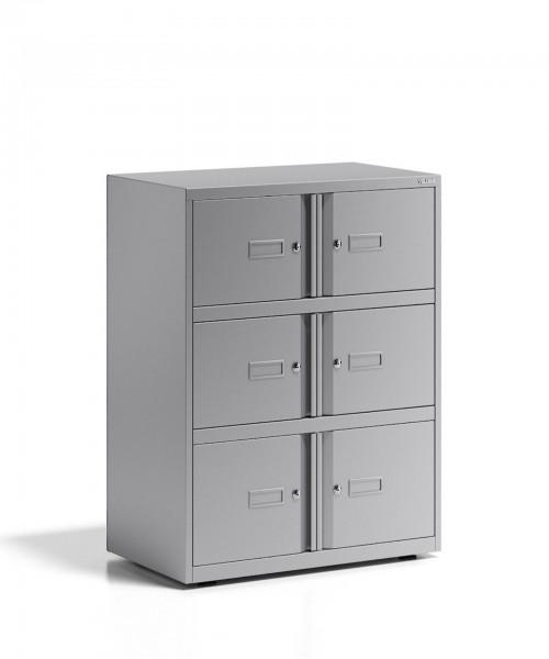Bisley Office Lodge Essentials, 6 Türen, Schließfachschrank - Ablageschrank
