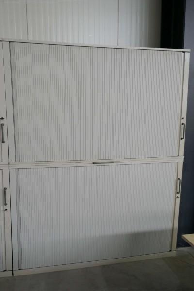 Günstiger, gebrauchter Werndl Rollladenschrank - 2-teilig - Grau