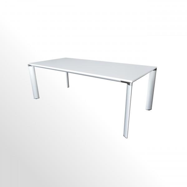 Gebrauchter Palmberg Besprechungs- und Konferenztisch - B 2200 mm - weiß