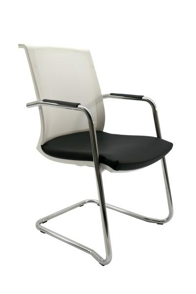 Besucher- und Konferenzstuhl - Freischwinger - ***Black&White-Edition***