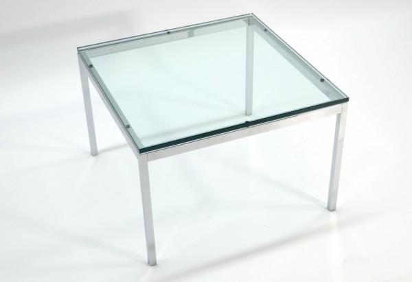 Günstiger, gebrauchter Glastisch - Beistelltisch