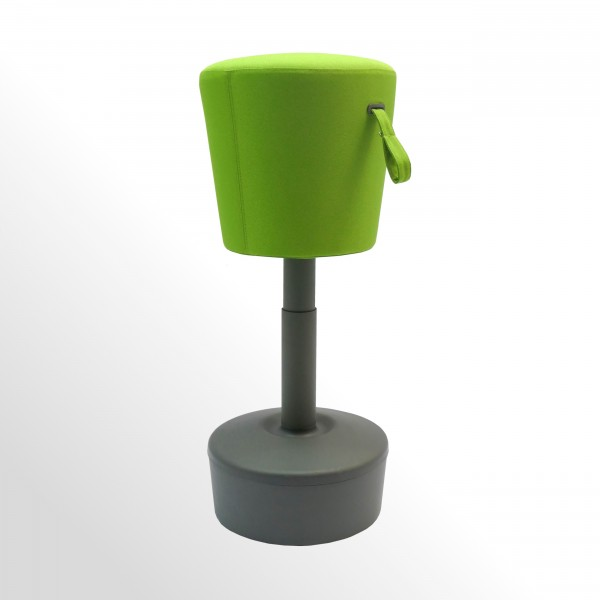 Sitzhocker - Stehhilfe - Stoff Grün - Flexibel und höhenverstellbar