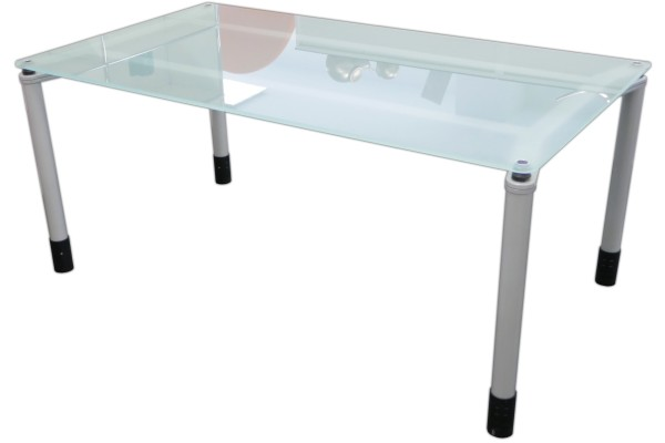 Gebrauchter Werndl Quadrino Besprechungs- und Konferenztisch - Glastisch