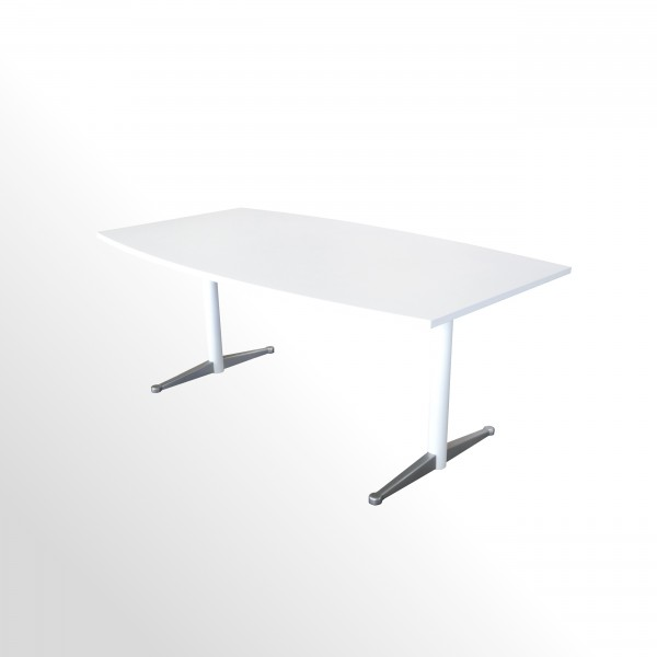 Günstiger Besprechungs - und Konferenztisch - 1800 x 1000 mm - weiß
