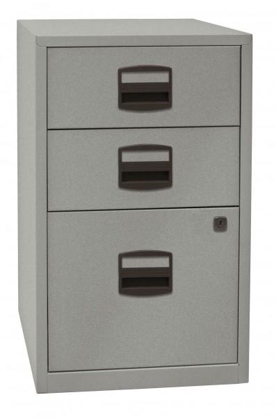 Bisley Beistellschrank PFA, 2 Universalschubladen, 1 HR-Schublade