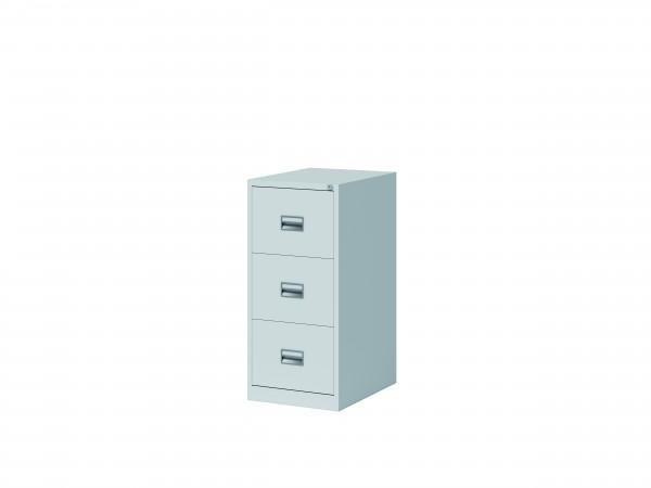 Bisley Hängeregistraturschrank ECO, einbahnig, DIN A4, 3 HR-Schubladen, Farbe lichtgrau