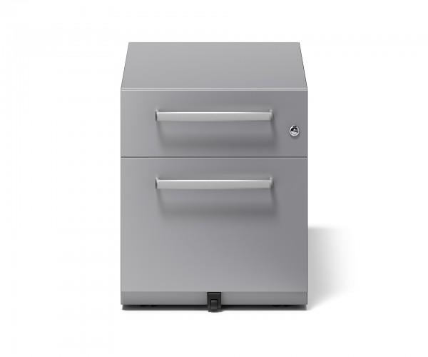 Bisley Rollcontainer Note™ mit Griff, 1 Universalschublade, 1 HR-Schublade; T 775 mm