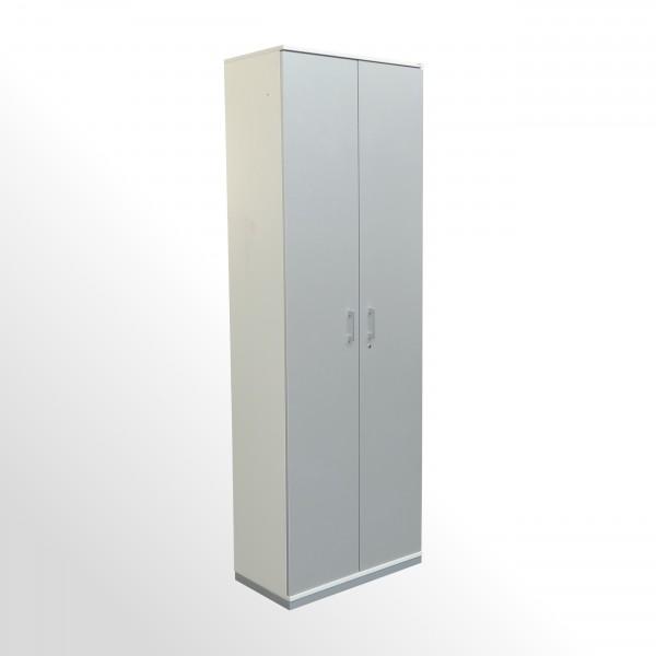 Gebrauchter Vario Aktenschrank - Flügelürenschrank - 6 Ordnerhöhen - B 800 mm - silber/aluminium