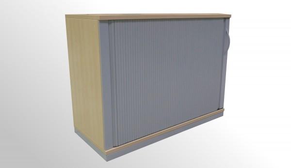 Gebrauchter Werndl Rollladenschrank - Ahorn Dekor|Aluminiumfarben - 2 OH