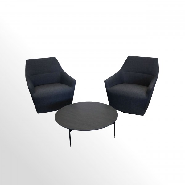 Günstiges Loungesessel-Set incl. Keramik-Beistelltisch