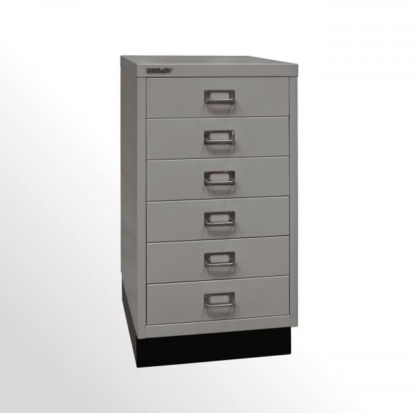 Schubladenschrank - Bisley MultiDrawer™, 29er Serie mit Sockel, DIN A3, 6 Schubladen