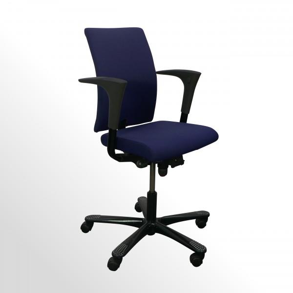 Günstiger, gebrauchter HAG Credo Bürodrehstuhl - Stoff blau