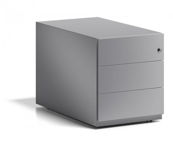 Bisley Rollcontainer Note™ mit Griffleiste, 3 Universalschubladen; T 775 mm