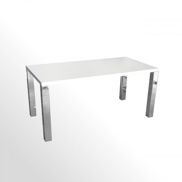 Günstiger, gebrauchter Design-Besprechungstisch - 1600x800 mm - Gestell hochglanzverchromt